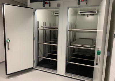 POLY-systems koelcel met dubbele deur voor uitvaartcentra